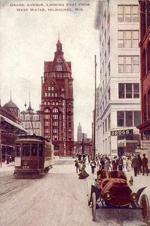 city street with a car
